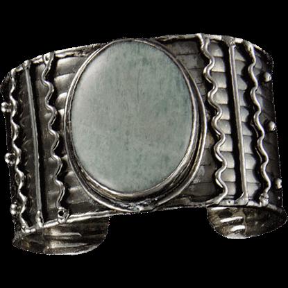 Antique Silver Amazonite Bracelet