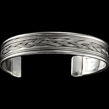 Antique Silver Braid Cuff Bracelet