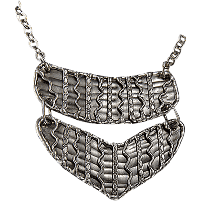 Antique Silver Two Tier Necklace