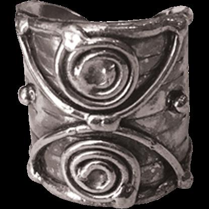 Antique Silver Swirl Cuff Ring