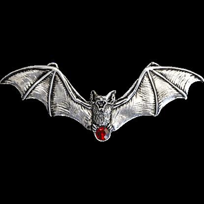 Flying Jeweled Vampire Bat Necklace