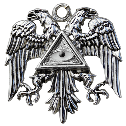 Byzantine Eagle Templar Necklace