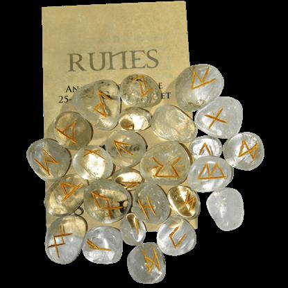 Crystal Quartz Set of Rune Stones