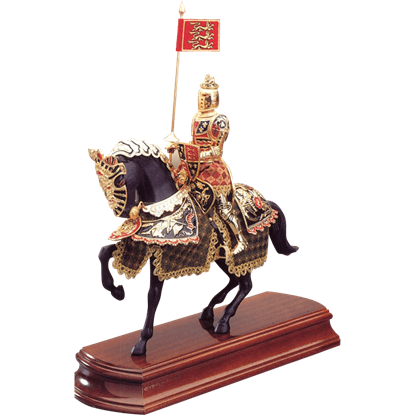 Black Prince Knight on Horseback