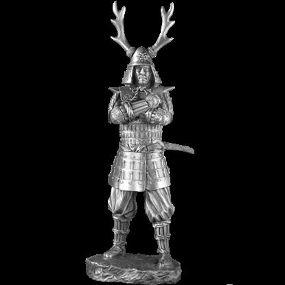 Pewter 17th Century Samurai Sculpture