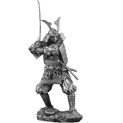 Pewter Kagemusha Sculpture