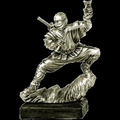 Pewter Ninja Sculpture