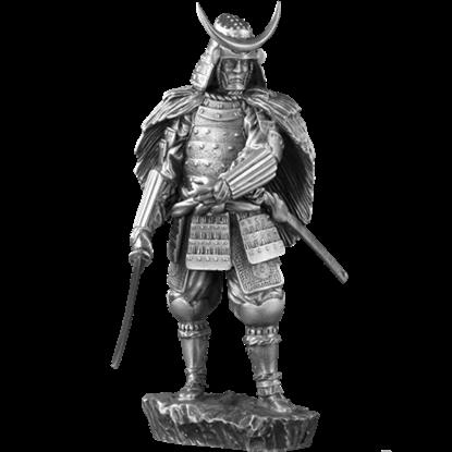 Pewter 16th Century Samurai Sculpture