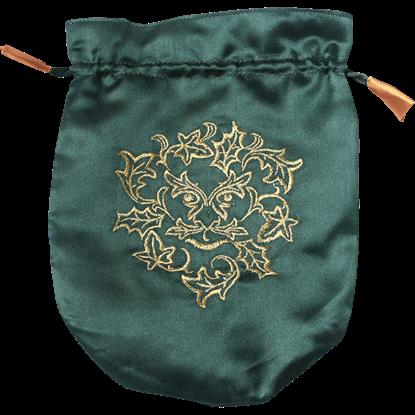 Green Satin Greenman Bag