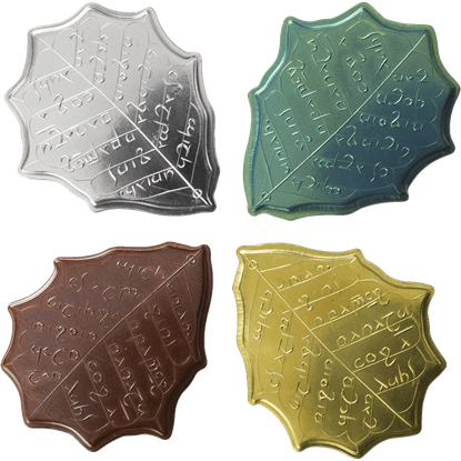 Elvish Four Leaf Coin Set