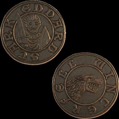 Copper Half-Groat of Eddard Stark