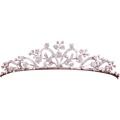Jeweled Floral Diadem