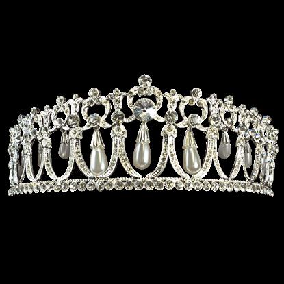 Pearl Dropper Rhinestone Crown