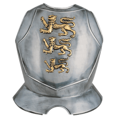 Steel Breastplate with Lions Passant