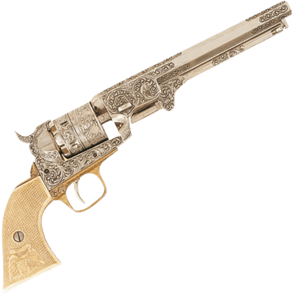 1851 Engraved Navy Revolver Black