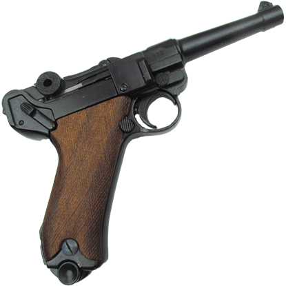 1898 Parabellum Luger P08 Pistol with Wood Grips