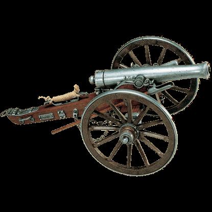 Grey 1861 Civil War Cannon USA
