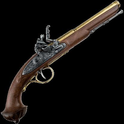 18th Century Antique Brass Flintlock Pistol