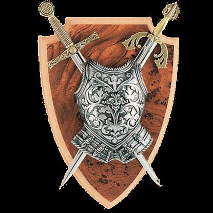 Excalibur and El Cid Mini Two Sword Plaque