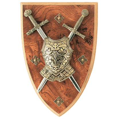 Excalibur and Charlemagne Mini Two Sword Plaque