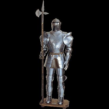16th Century Italian Full Suit of Armor with Halberd