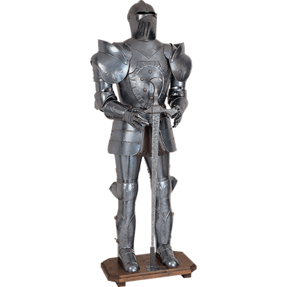 16th Century Italian Full Suit of Armor with Sword