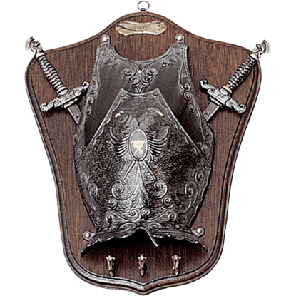 Mini Armour and Swords Display Plaque with Pegs