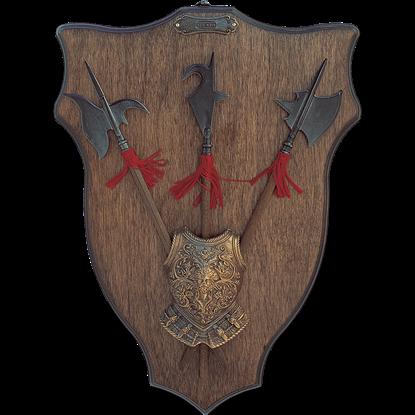 Heraldic Halberds Display Plaque