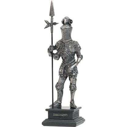16th Century Pewter Knight with Halberd