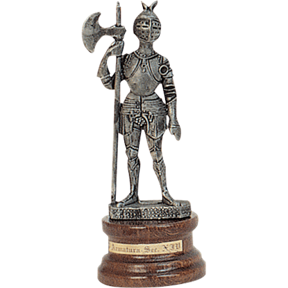 Mini Pewter Knight with Halberd