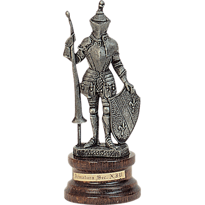 Mini Pewter Knight with Lance