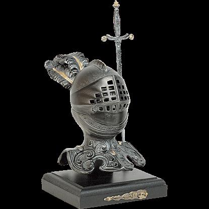 Old World Knights Helmet Display Piece