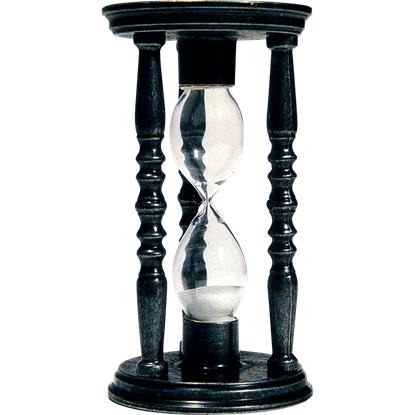 Black Old World Hourglass