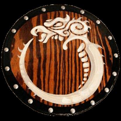 Wooden Celtic Griffin Shield
