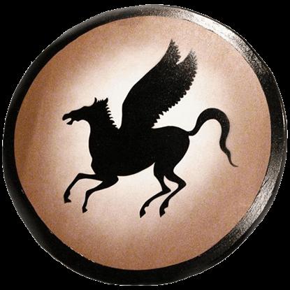 Wooden Greek Pegasus Horse Shield