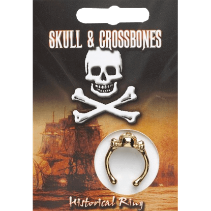 Gold Plated Skull And Crossbones Ring