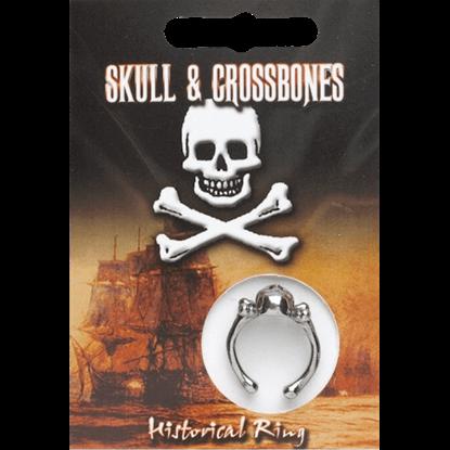 Pewter Skull And Crossbones Ring
