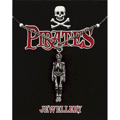 Pewter Pirate Skeleton Necklace
