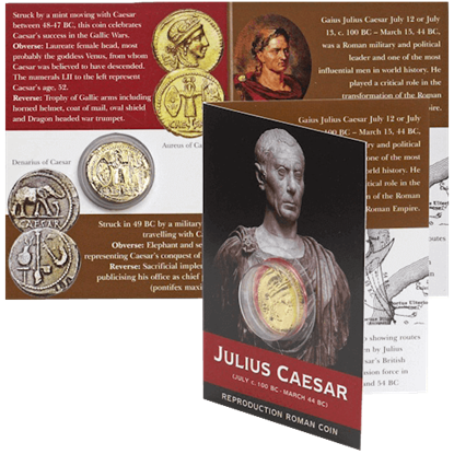 Aureus Of Caesar Replica Coin Pack