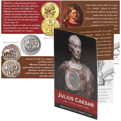 Denarius Of Caesar Replica Coin Pack