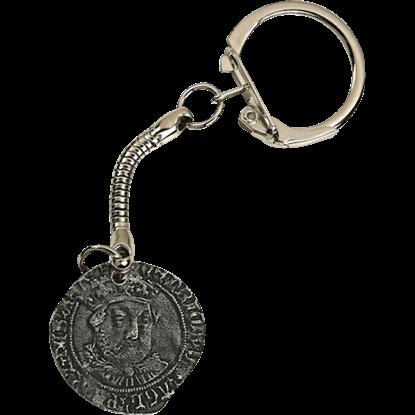 Tudor Coin Key Ring