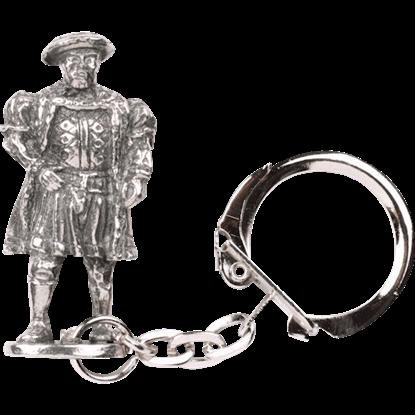 Tudor Figure Key Ring