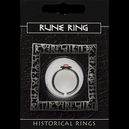 Pewter Rune Gem Ring