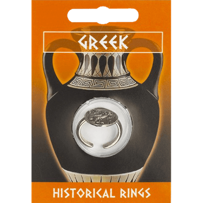 Pewter Greek Owl Coin Ring