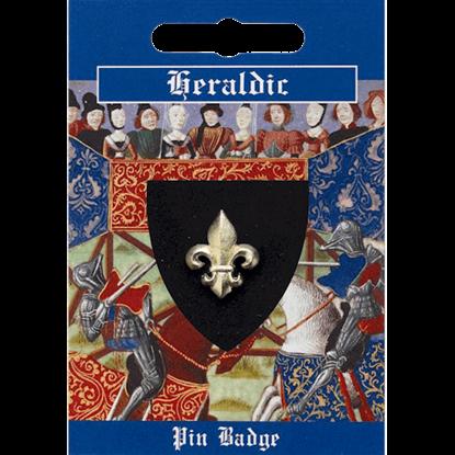 Gold Heraldic Fleur de lis Pin Badge