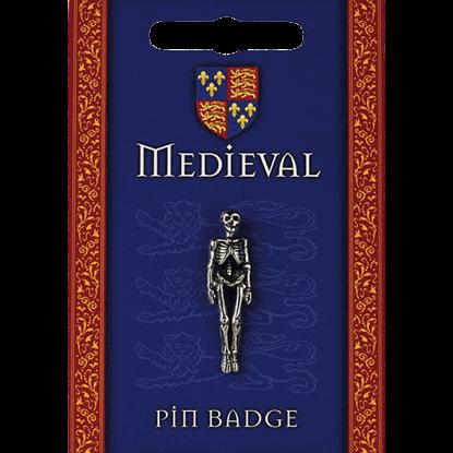Heraldic Skeleton Pin Badge