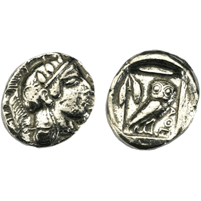 Athens Silver Didrachm Replica Coins