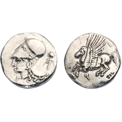 Corinthian Silver Didrachm Replica Coins