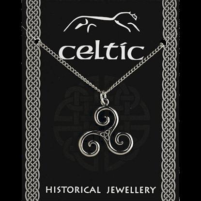 Ancient Celtic Triskele Necklace