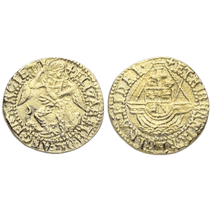 Elizabeth I Quarter Angel Replica Coins